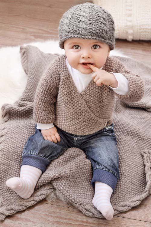 Eine Babyjacke stricken kostenlose Strickanleitung schoentricken.de