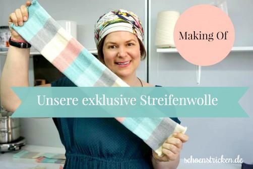 Unsere exklusive Streifenwolle schoenstricken.de