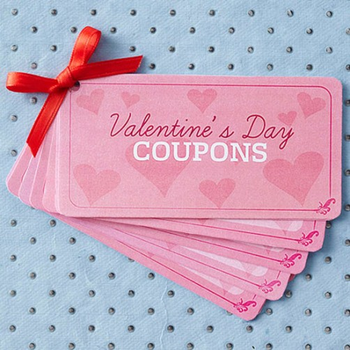 Valentinstags Coupons zum Audrucken schoenstricken.de