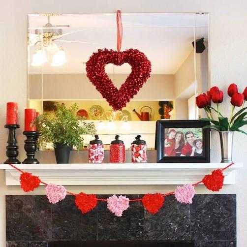 Valentinstags DIY Wohnungs Dekoration schoenstricken.de