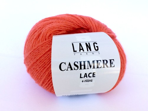 Wolle Cashmere Lace Lang Yarns orange