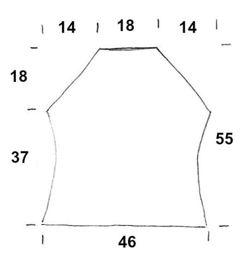 Schnitt Rückenteil Knit Along 36