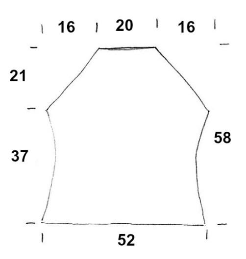 Schnitt Rückenteil Knit Along 42-44