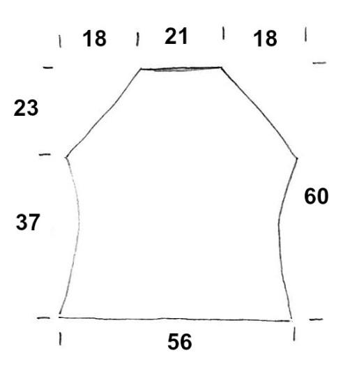 Schnitt Rückenteil Knit Along 46