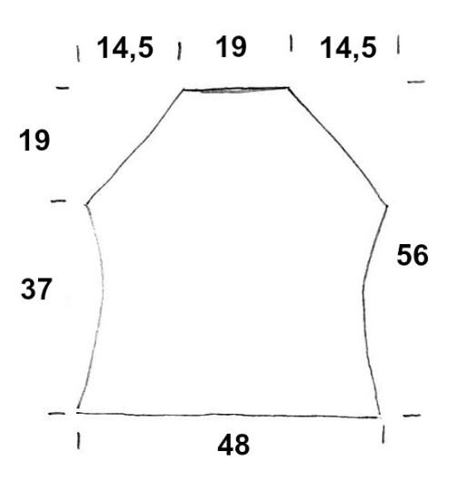 Schnitt Rückenteil Knit Along Größe 3840