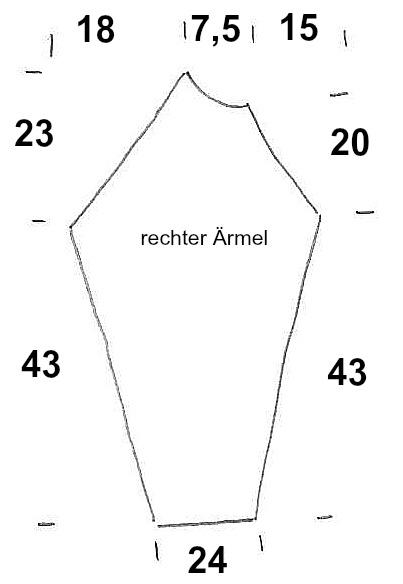 Schnitt Ärmel rechts Knit Along Größe 46