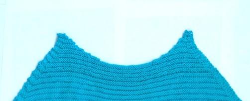 schoenstricken Knitalong Halsausschnitt Vorderteil