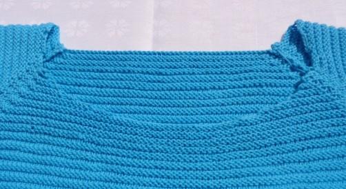 schoenstricken Knitalong Raglan Halsausschnitt