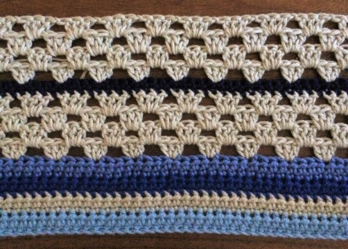 schoenstricken Crochet Along Kuscheldecke Bild 3
