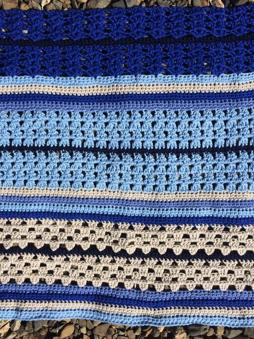 schoenstricken Crochet Along Kuscheldecke Bild 9