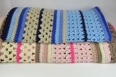 schoenstricken Crochet Along Kuscheldecke Klein und Groß