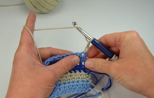 schoenstricken Crochet Along Kuscheldecke Muster 1a