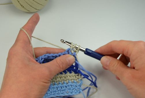 schoenstricken Crochet Along Kuscheldecke Muster 1c