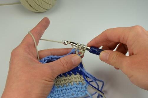 schoenstricken Crochet Along Kuscheldecke Muster 1d