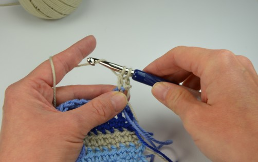schoenstricken Crochet Along Kuscheldecke Muster 1f
