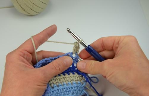 schoenstricken Crochet Along Kuscheldecke Muster 1g