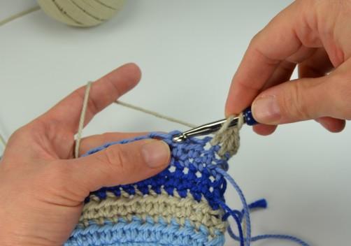 schoenstricken Crochet Along Kuscheldecke Muster 1k