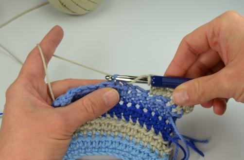 schoenstricken Crochet Along Kuscheldecke Muster 1m