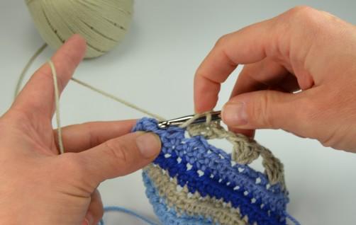 schoenstricken Crochet Along Kuscheldecke Muster 1n