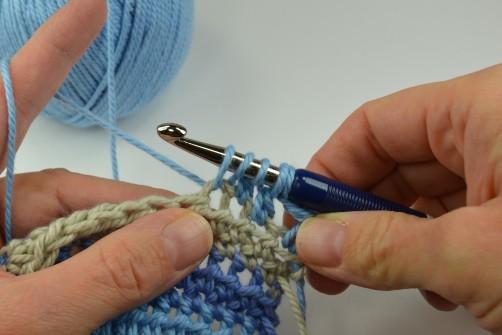 schoenstricken Crochet Along Kuscheldecke Muster 2f