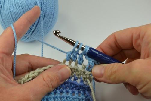 schoenstricken Crochet Along Kuscheldecke Muster 2g