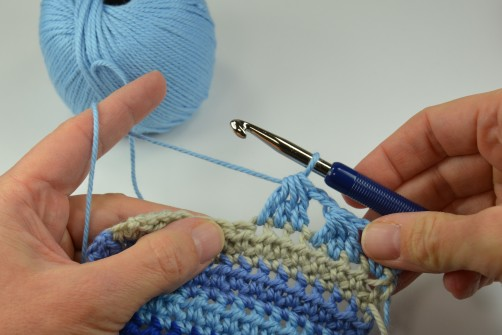 schoenstricken Crochet Along Kuscheldecke Muster 2l