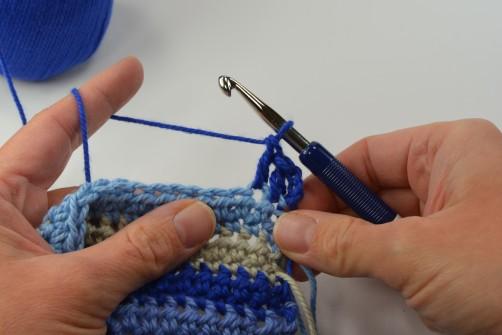 schoenstricken Crochet Along Kuscheldecke Muster 3a
