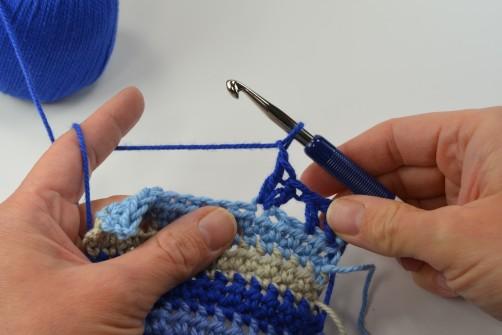 schoenstricken Crochet Along Kuscheldecke Muster 3d