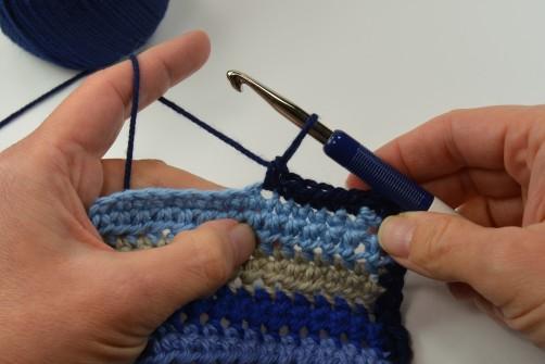 schoenstricken Crochet Along Kuscheldecke Umrandung 1