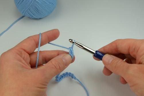 schoenstricken Crochet Along Kuscheldecke feste Maschen 2