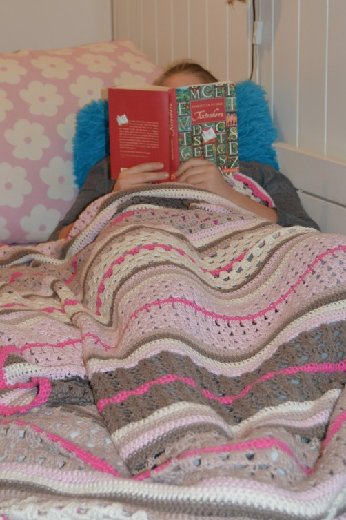 schoenstricken Crochet Along Kuscheldecke groß