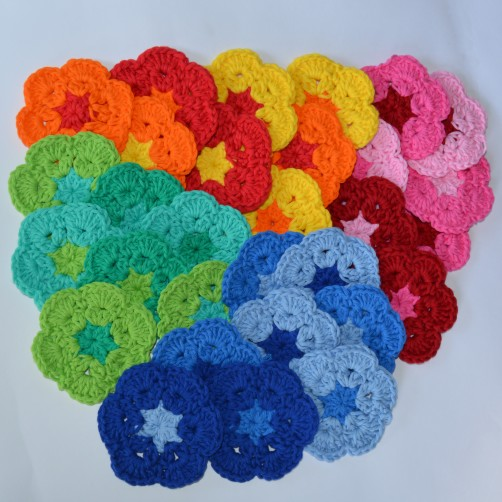 schoenstricken CAL Tasche Afrikanische Blume Teil 1