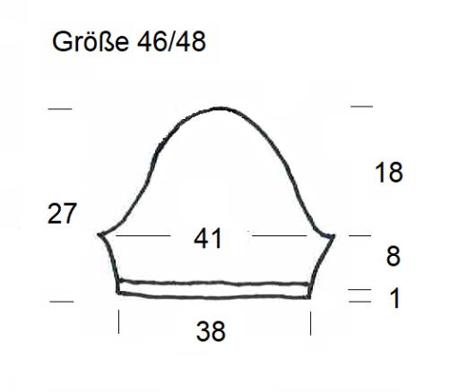 Schnitt Bolero mit Herz Ärmel Größe 46-48