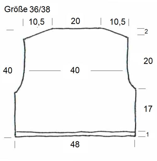 Schnitt Bolero mit Herz Rückenteil Größe 36-38