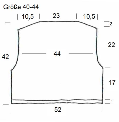 Schnitt Bolero mit Herz Rückenteil Größe 40-44