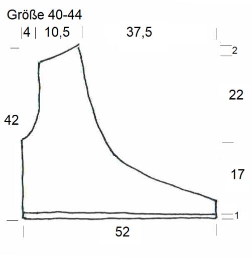 Schnitt Bolero mit Herz rechtes Vorderteil Größe 40-44