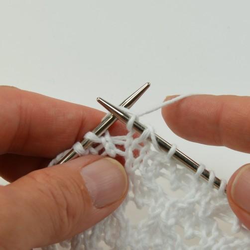 schoenstricken Knit Along Bolero mit Herz betonte Abnahme 9