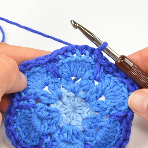 schoenstricken CAL Tasche African Flower 4. Runde 13