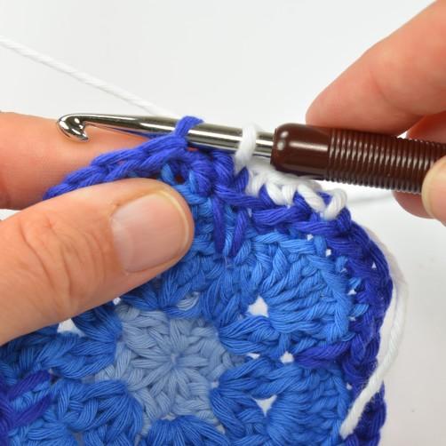 schoenstricken CAL Tasche African Flower 5. Runde 4