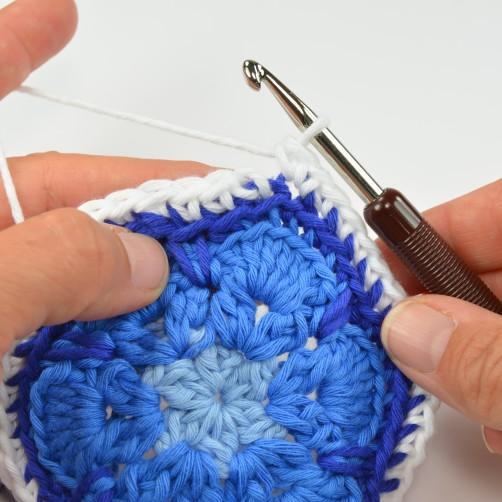 schoenstricken CAL Tasche African Flower 5. Runde 9