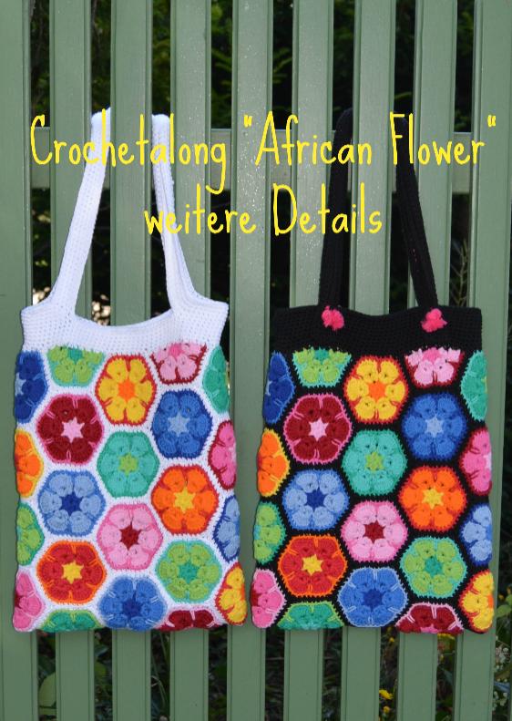 schoenstricken CAL Tasche African Flower weitere Details