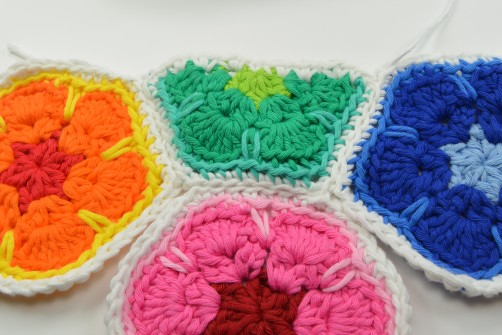 schoenstricken CAL Tasche African Flower zusammennähen 22