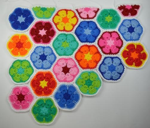 schoenstricken CAL Tasche African Flower zusammennähen 23