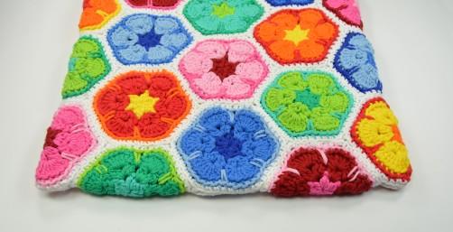 schoenstricken CAL Tasche African Flower zusammennähen 26