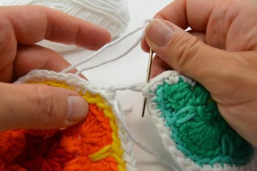 schoenstricken CAL Tasche African Flower zusammennähen 4