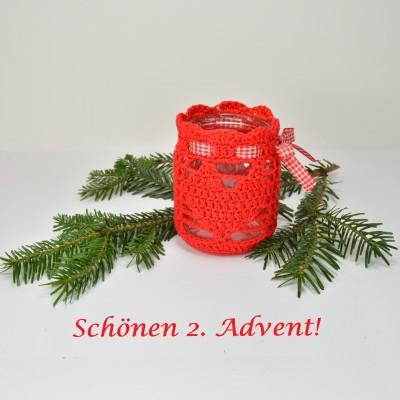 schoenstricken.de 2. Advent 2019 Weihnachtswindlicht 1