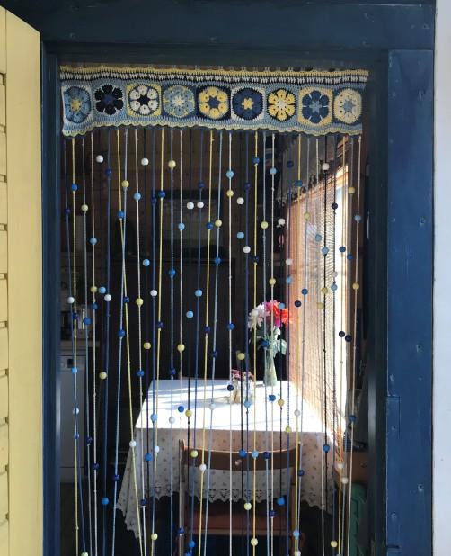 Türvorhang für Gartenhaus