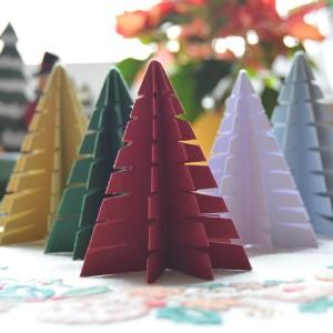 Weihnachts-Tannenbaum aus Papier basteln