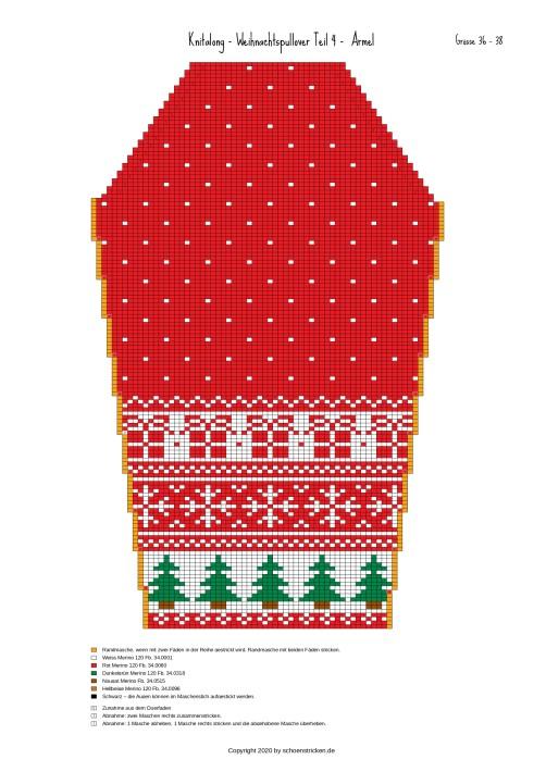 Weihnachtspullover Ärmel 36-38