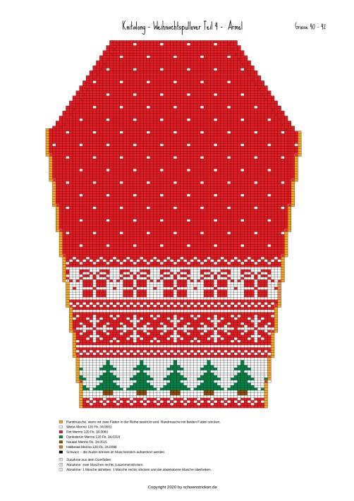 Weihnachtspullover Ärmel 40-42